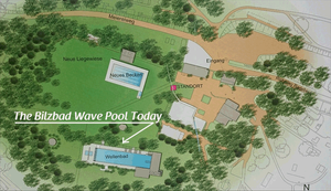 Location of Bilzbad Wave Pool Today