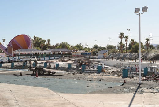 Palm Springs Surf Club Construction Site from Desert Sun