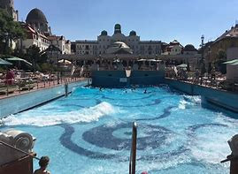 The wave pool at Gellért Baths present day in Budapest, Hungary