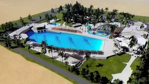 Conceptual Drawing of Palm Springs Surf Club Wave Pool