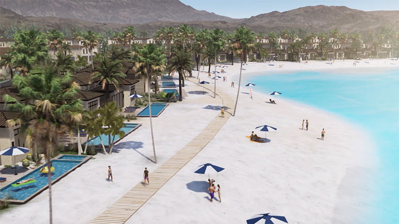 Concept of the Shore of Thermal Beach Club Surf Lagoon