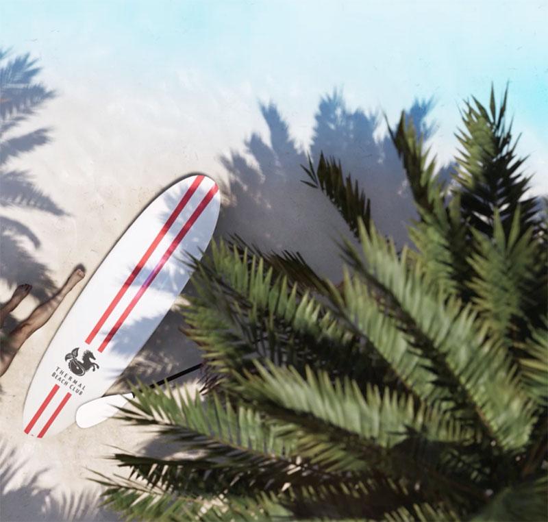 Thermal Beach Club Surfboard by Surf Lagoon