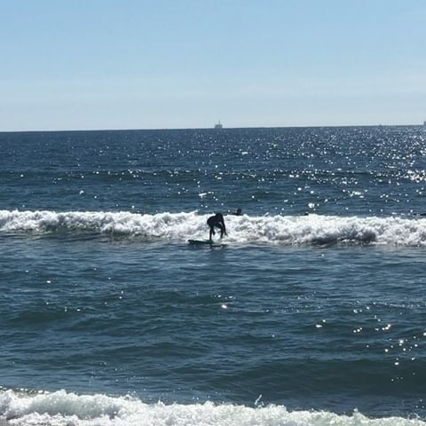 East Valley Board Riders student learning to surf in Huntington Beach