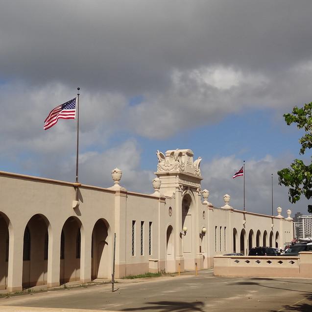 Waikiki Natatorium War Memorial Enterance