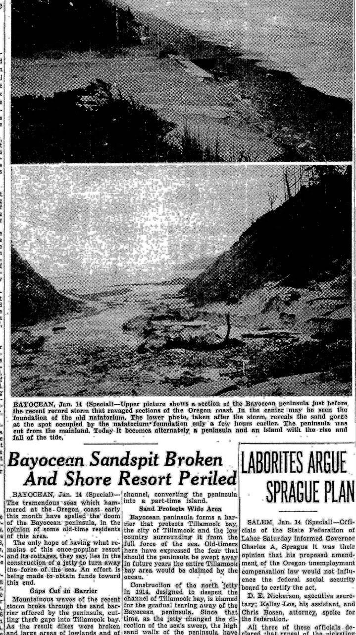 Bayocean Natatorium in Ruins 1932