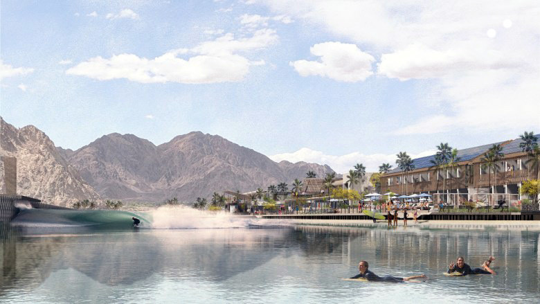 Artist's Rendering of Coral Mountain Wave Basin