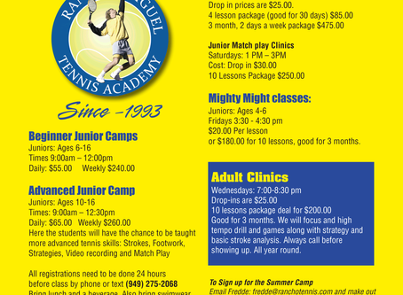 Junior Summer Tennis Camps 2019