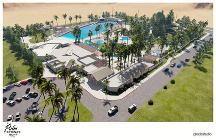 Conceptual Drawing of Palm Springs Surf Club
