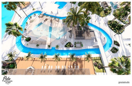 Conceptual Drawing of Palm Springs Surf Club Lazy River