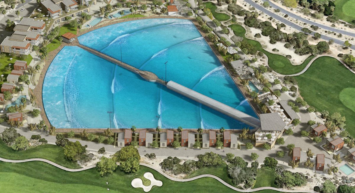 Aerial Overview of Planned Surf Resort