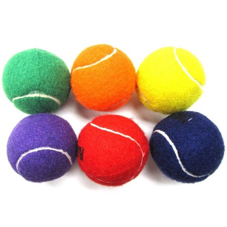 Assorted Colored Tennis Balls