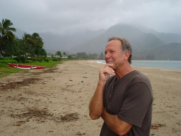 Dave Rullo on Hanalei Bay Beach