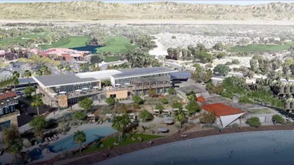 Rendering of DSRT Surf Resort. Palm Desert, California
