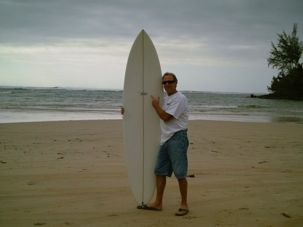 Dave and His Surfboard