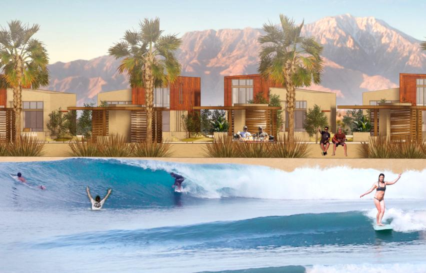 Early Rendering of DSRT Surf Resort. Palm Desert, California