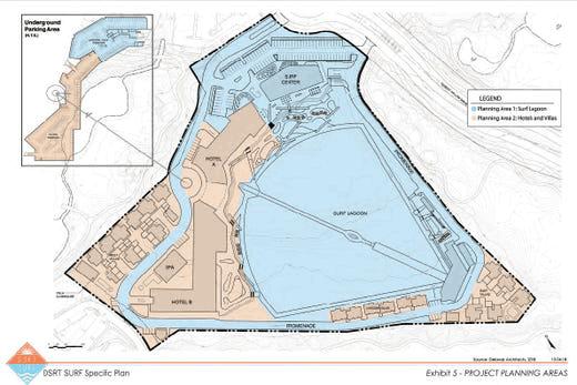 Plan of DSRT Surf Resort. Palm Desert, California