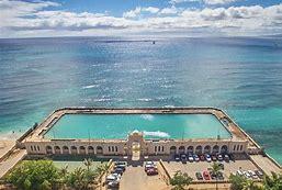 Waikiki Natatorium War Memorial Aerial View