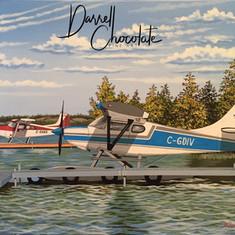 Plane Docked at Yellowknife Bay
