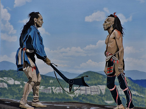 """The Last Of The Mohicans"" Original Painting"