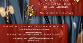 25.04.2020 - Differimento del Solenne Pontificale in onore di San Giorgio 2020