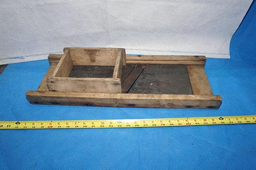 Primitive Wooden Kraut Cutter