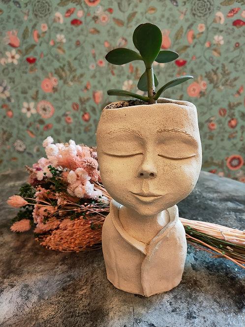 Sculpture buste plante