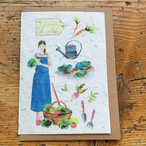 """Carte à planter """"Salade"""""""