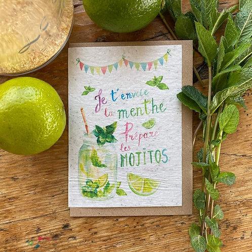 """Carte à planter """"Mojito"""""""
