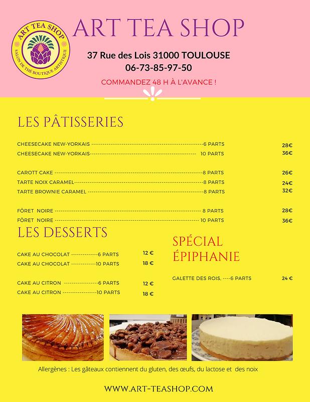 Rose et Blanc Mignon Simple Cupcake Menu