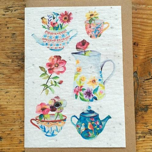"""Carte à planter """"Vases"""""""