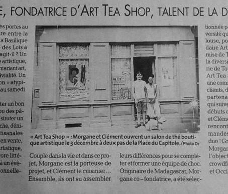 LA DEPÊCHE DU MIDI ANNONCE L'OUVERTURE ART TEA SHOP !