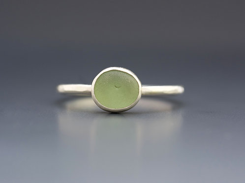 Size 10.5 Sea Glass Stacking Rings
