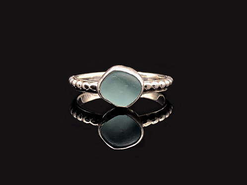 Tiny Sea Glass Stacking Rings