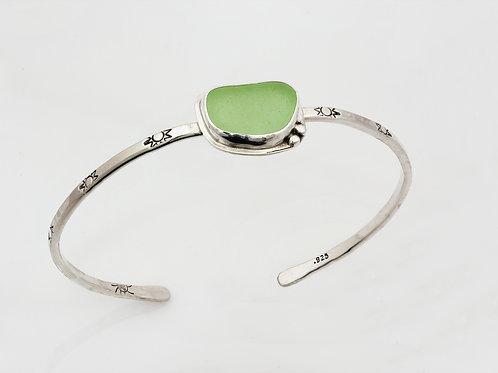 Sea Glass Cuff Bracelets