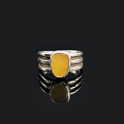Yellow Milk Glass Ring