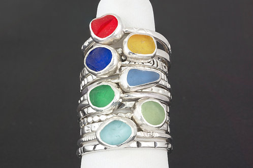 Sea Glass Stacking Ring Sets All Sizes