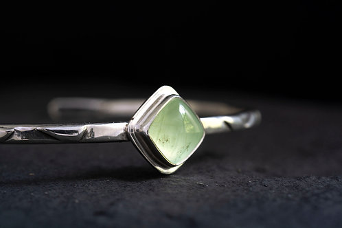 Prehnite Cuff Bracelet Artisan Jewelry
