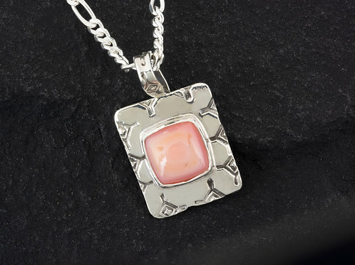 Small Pink Conch Gemstone Necklace