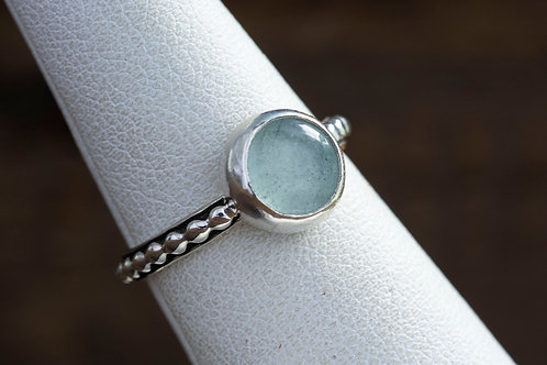 Aquamarine Gemstone Silver Ring
