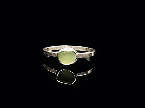 Tiny Stackable Sea Glass Rings