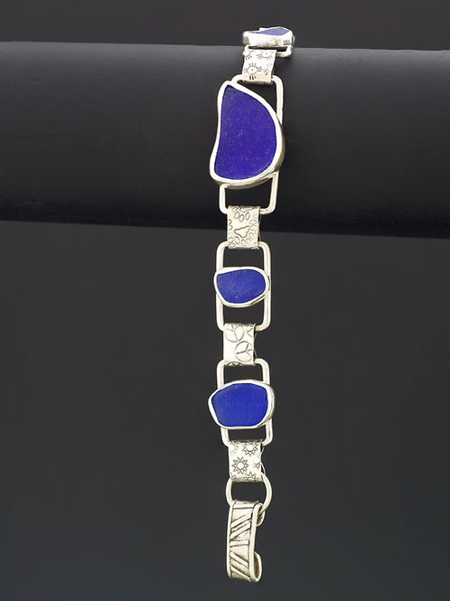 5 Cobalt Blue Sea Glass Bracelet