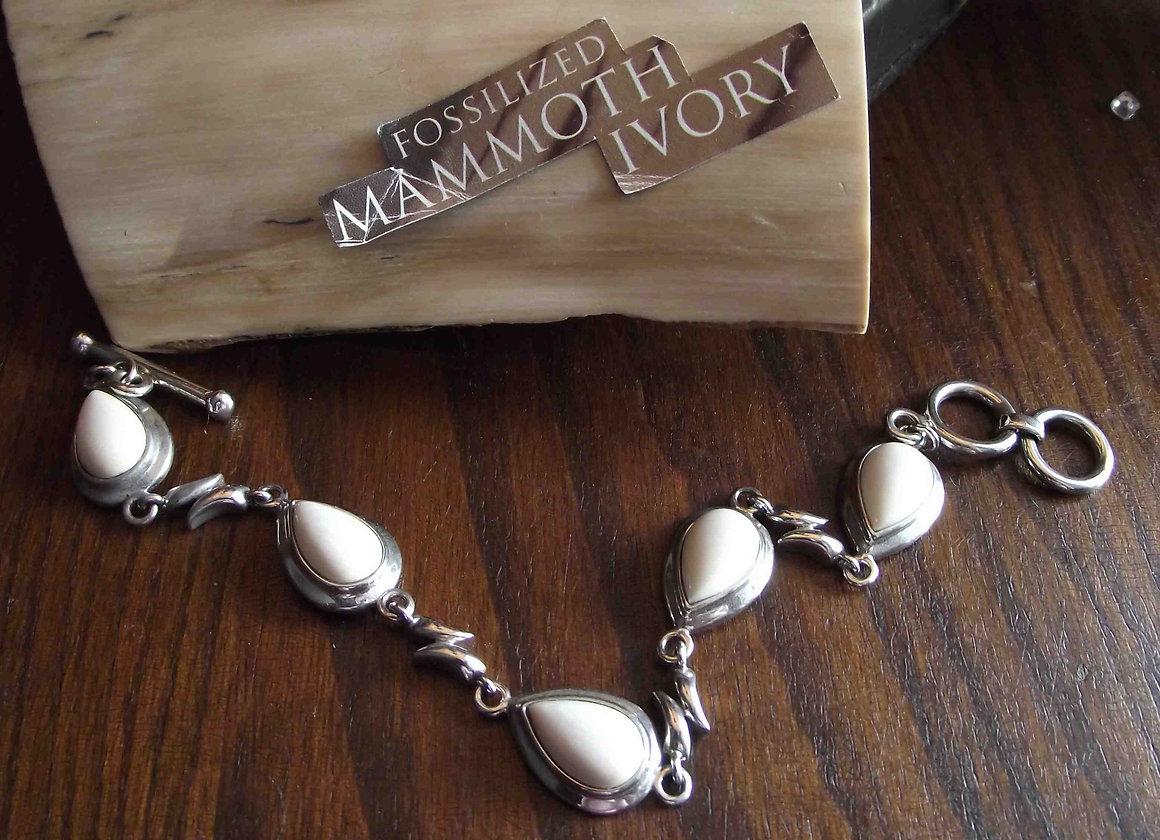 Woolly Mammoth Ivory Jewellery SILVER Bracelet | jewelry