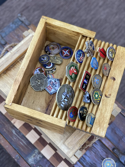 Grenade Crate Challenge Coin Display Box