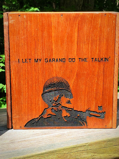Soldier with Garand Keepsake Box