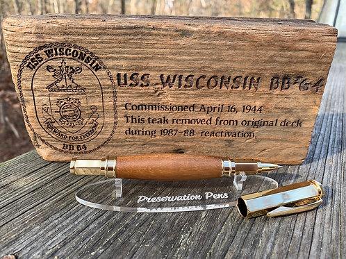 USS Wisconsin Vertex Rollerball Pen