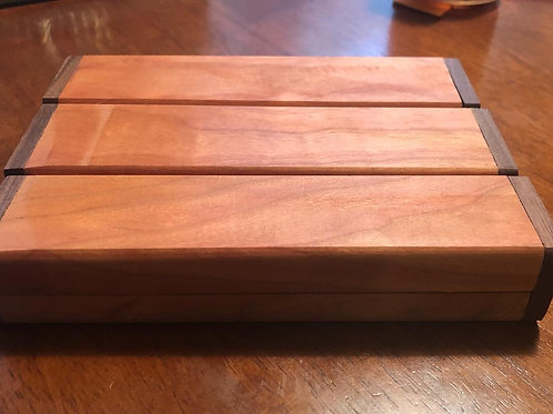 Cherry/ Walnut Wooden pen box