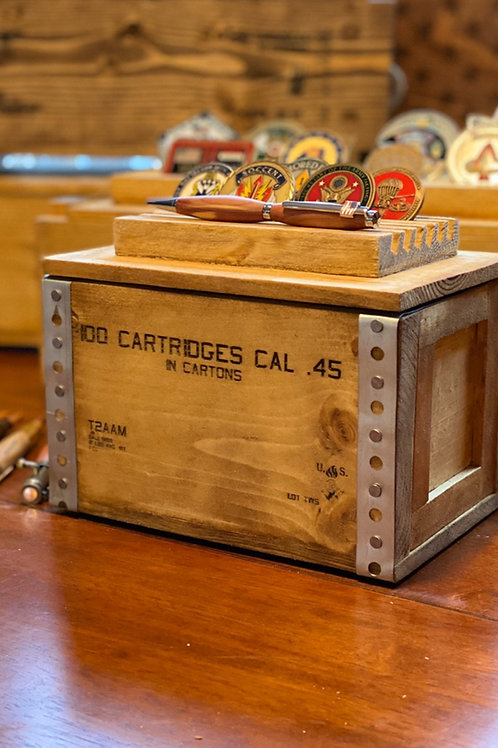 45 Challenge Coin Ammo-box