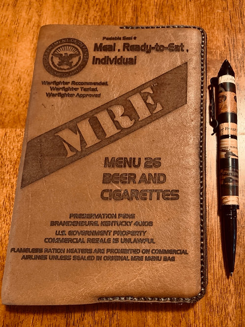 MRE Leather Book Cover