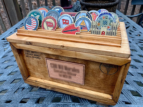 The Medic Challenge Coin Display Crate