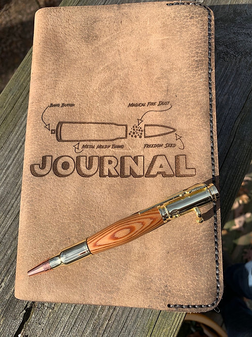 Anatomy of a Pew Hand-stitched Leather Journal Cover